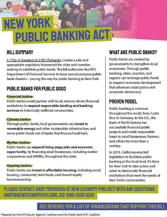 New York Public Banking Act